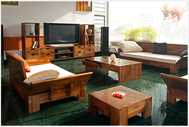 Custom design solid wood furniture Shop in Bangalore