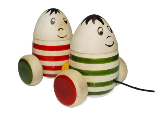 Bobblers – Chennapatna wooden pull toy. Buy Online from Maya Organic