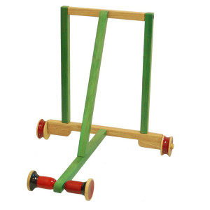 Classic Green 2_Maya Organic Channapatna Wooden toy_ Baby Walker