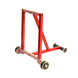 Classic Red Wooden Baby walker. Channapatna Ride On Toy. Buy Online India