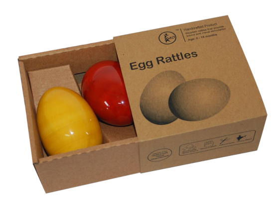 Egg rattles, channapatna toys, 0 to 1 years, maya organic