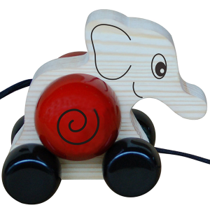 Elifa – Elephant wooden pull toy with rotating shell. Maya Organic Wooden toys Shop in Bangalore