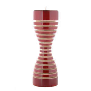 Lune candle Holder Red