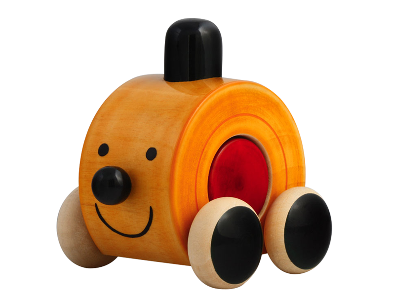 Moee is a smiling wooden push toy. Buy Online India INR 300.00