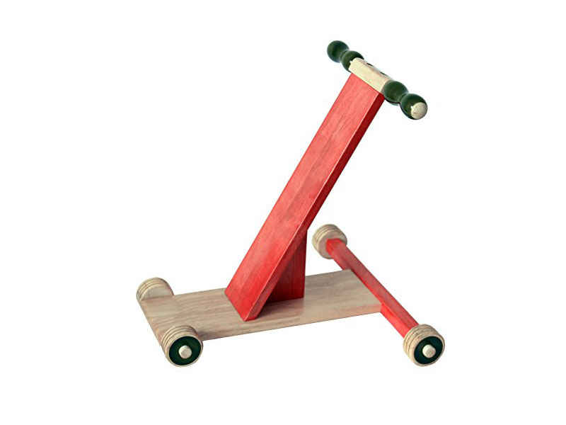 Scootle Channapatna wooden baby walker – Red. Buy Online India