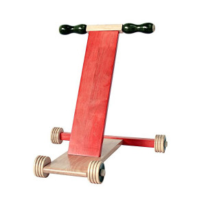 Scootle Red 2_Maya Organic Channapatna Wooden toy_ Baby Walker