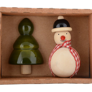 Snowman & Xmas tree Fridge magnet