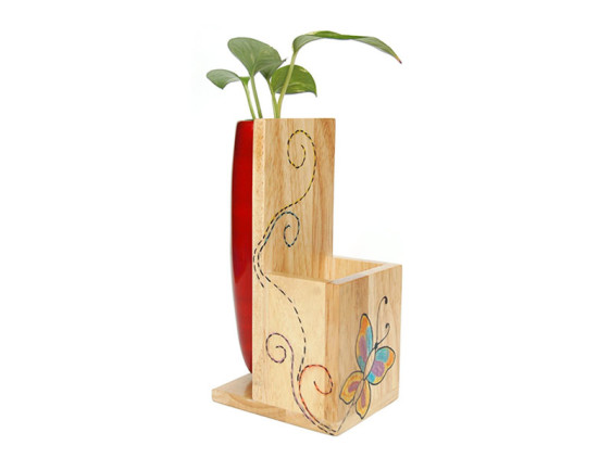 Storage plant holder red - IRIS