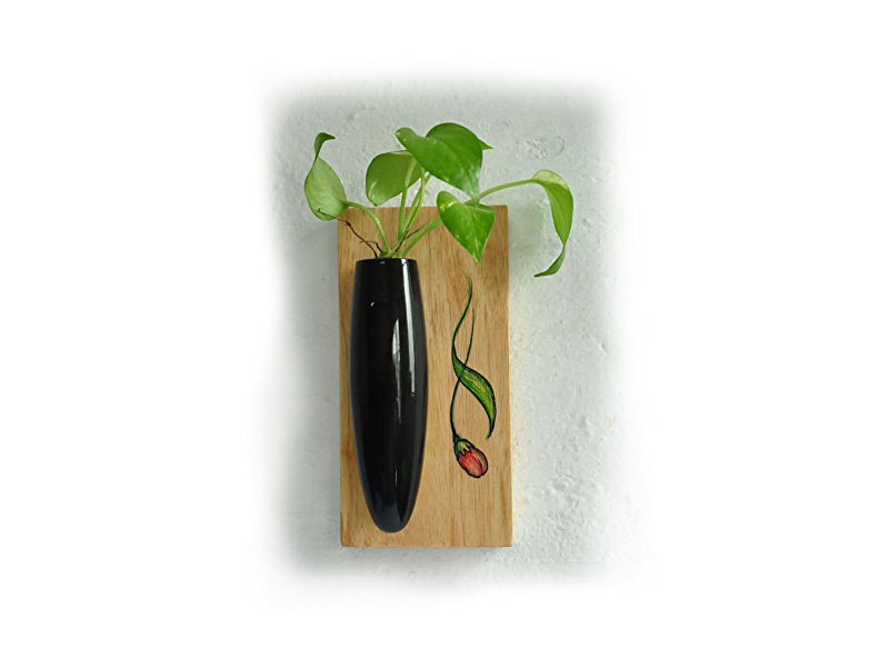 Wall Hanging Plant Holder Black Channapatna Toys