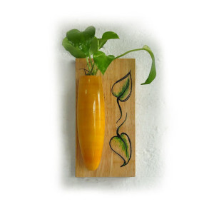 Wall Hanging Plant Holder Yellow