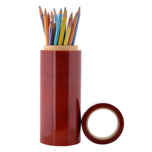 Wooden Pencil Box - Jumbo (Red)2