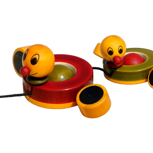 Duby and Duba - wooden pull toy of a pair of ducks. For 1 to 2 years old. Buy Online