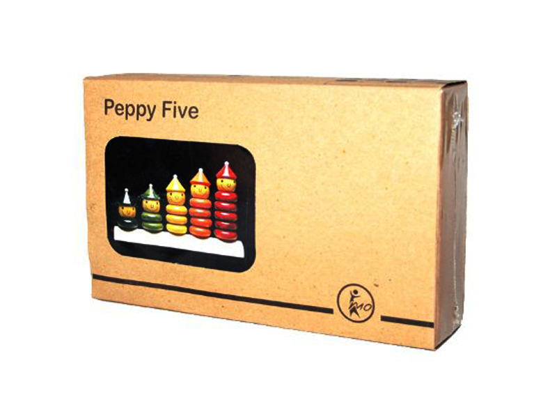 Peppy Five - Channapatna toys - Maya Organic - 3 to 5 years